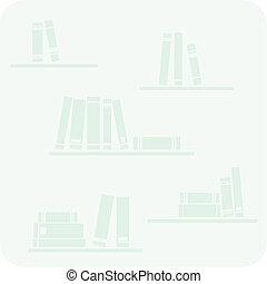 boekjes , planken, vector