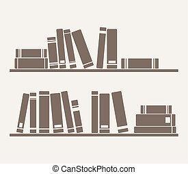 boekjes , planken, vector, eenvoudig