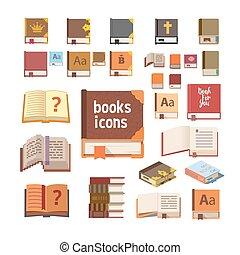 boekjes , set, iconen
