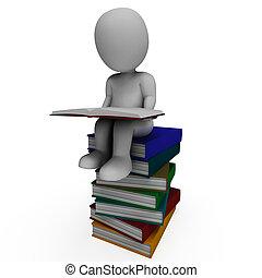 boekjes , student, leren, optredens