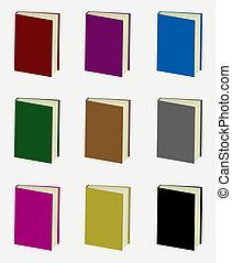 boekjes , vector, set, kleurrijke