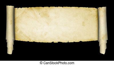 boekrol, antieke , parchment.