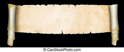 boekrol, van, antieke , parchment.