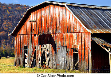 boerderij, arkansas, rustiek, ozark