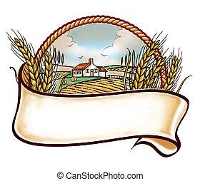 boerderij, embleme
