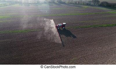 boerderij, glyphosate, verstoven, herbicide