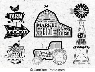 boerderij, ouderwetse