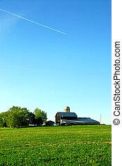 boerderij, schuur