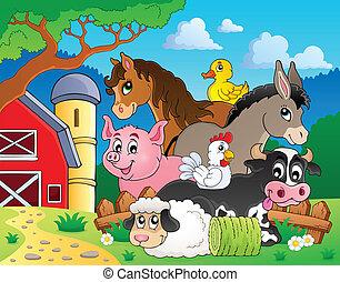 boerderij, topic, beeld, dieren, 3
