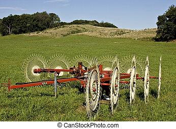 boerderij, velden, weiden