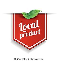 boerderij, voedingsmiddelen, etiket, zeehondje, badge, of