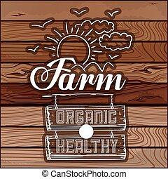 boerderij, voedingsmiddelen, ontwerp