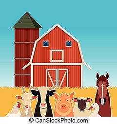 boerderijdieren, spandoek