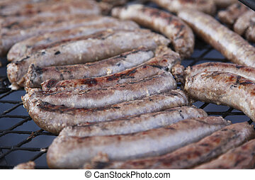 Boerewors on the grill - South African saussage on the grill