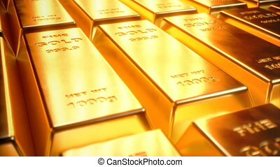 boete, goud verspert, 1000, gram, op de vloer, met,...