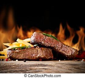boeuf, biftecks