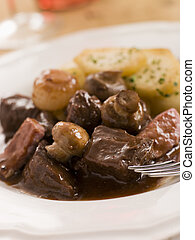 Boeuf Borguignon with Saute Potatoes
