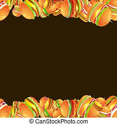 boeuf, cadre, hamburger, savoureux, grillé, légumes frais