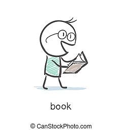 bog, læser