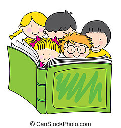 bog, læsning, børn