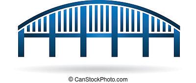 bogenbrücke, struktur, image.