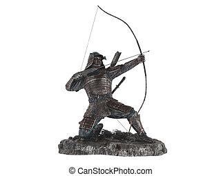 bogenschütze, statuette