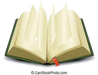 bogmærke, og, flipping, sider