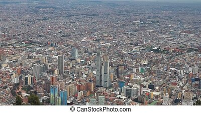City of Bogota, Colombia on dull overcast day
