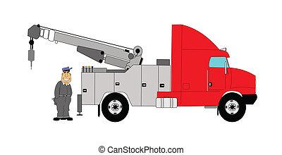 bogsering transportera, chaufför