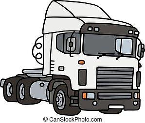 bogsering, vit, lastbil