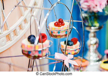 bogyók, szerkesztés, cupcakes, néhány, fémből való
