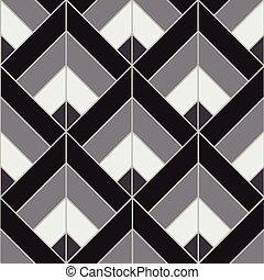Bohemian Black White Pattern Background