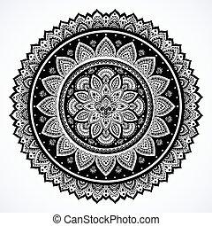 Bohemian Indian Mandala towel print. Vintage Henna tattoo...