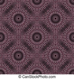Bohemian pink abstract garden mandala ornament pattern background art