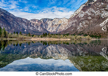 Bohinj lake in Triglav National Park