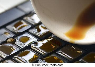 bohnenkaffee, computertastatur