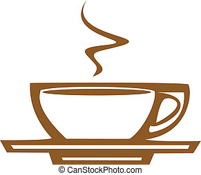bohnenkaffee, dampf, becher