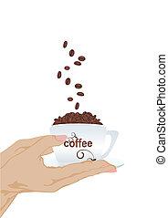 bohnenkaffee, hand