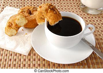 bohnenkaffee, krapfen