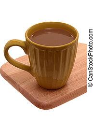 bohnenkaffee, mit, creme
