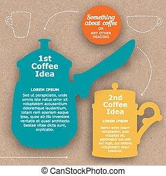 bohnenkaffee, plan, stil, schablone