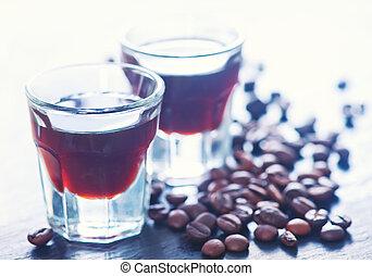 bohnenkaffee, schnaps