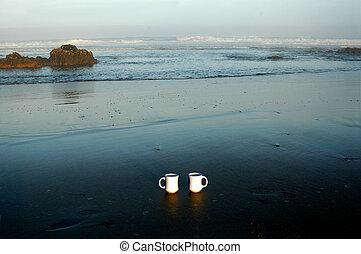 bohnenkaffee, strand