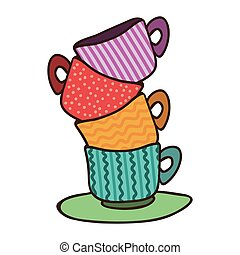 bohnenkaffee farbe polka tassen stapel punkt clipart suche illustration zeichnung. Black Bedroom Furniture Sets. Home Design Ideas