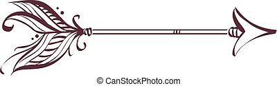 Illustration of a Boho Arrow Design Pointing to the Right