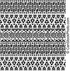 Boho background with ethnic lines and shapes