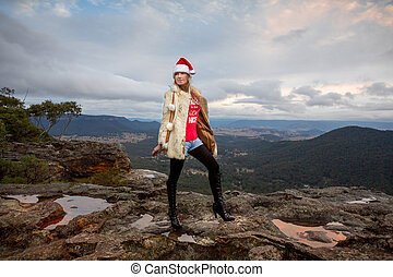 Boho Christmas in the mountains
