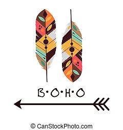 Boho design - Boho icon digital design, vector illustration...