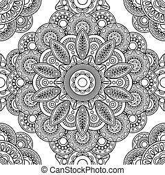 Boho doodle seamless pattern