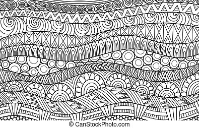 Boho pattern for background, decorations, banner, coloring book, cards and so on - Vector
